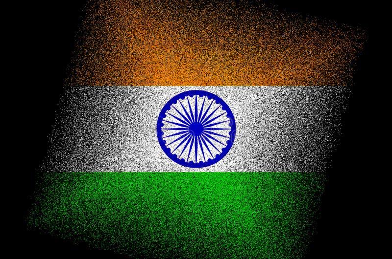 印度旗子/全国印度旗子 向量例证