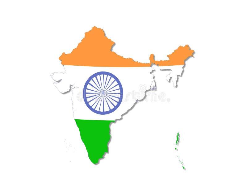 印度映射 免版税库存照片