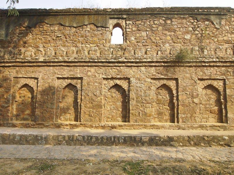 印度曲拱装饰 图库摄影