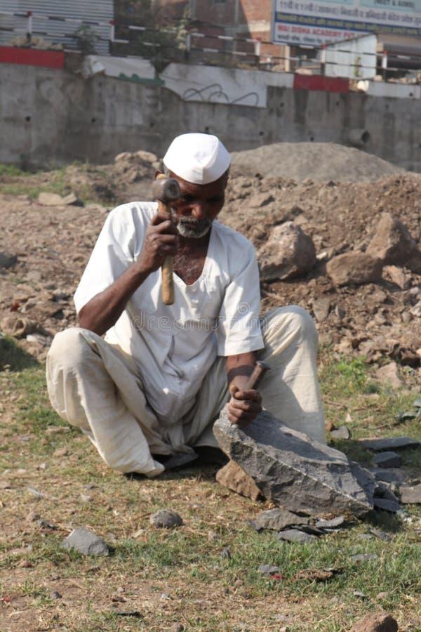 印度村庄照片 免版税库存照片