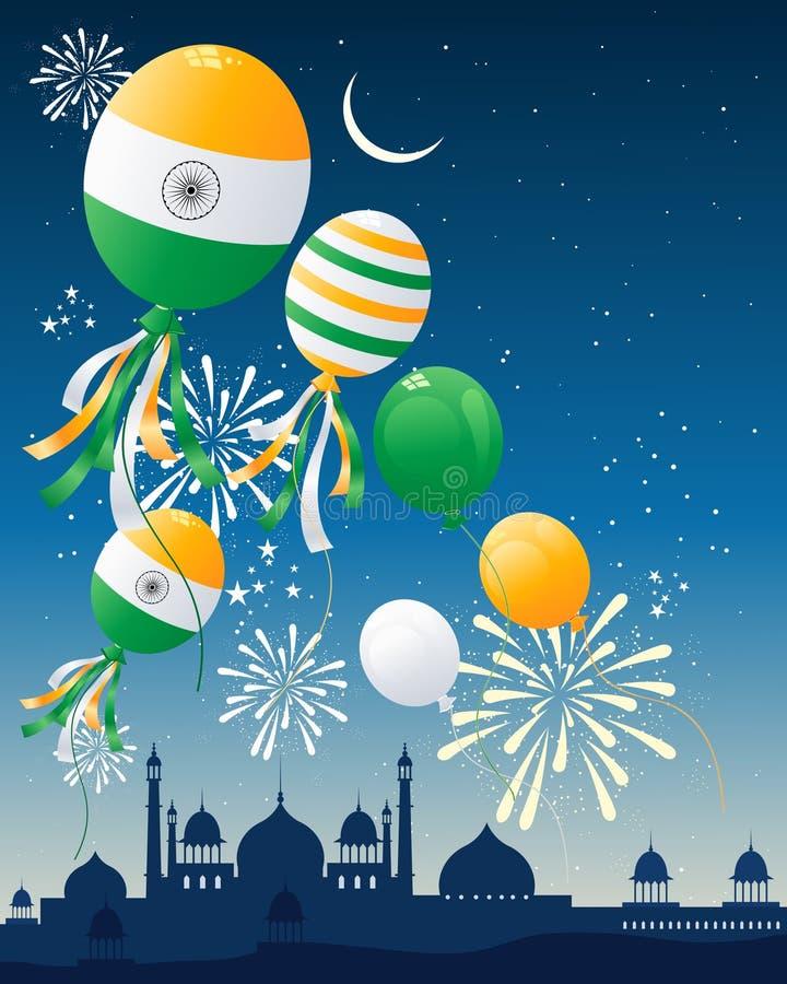 印度标志气球 库存例证