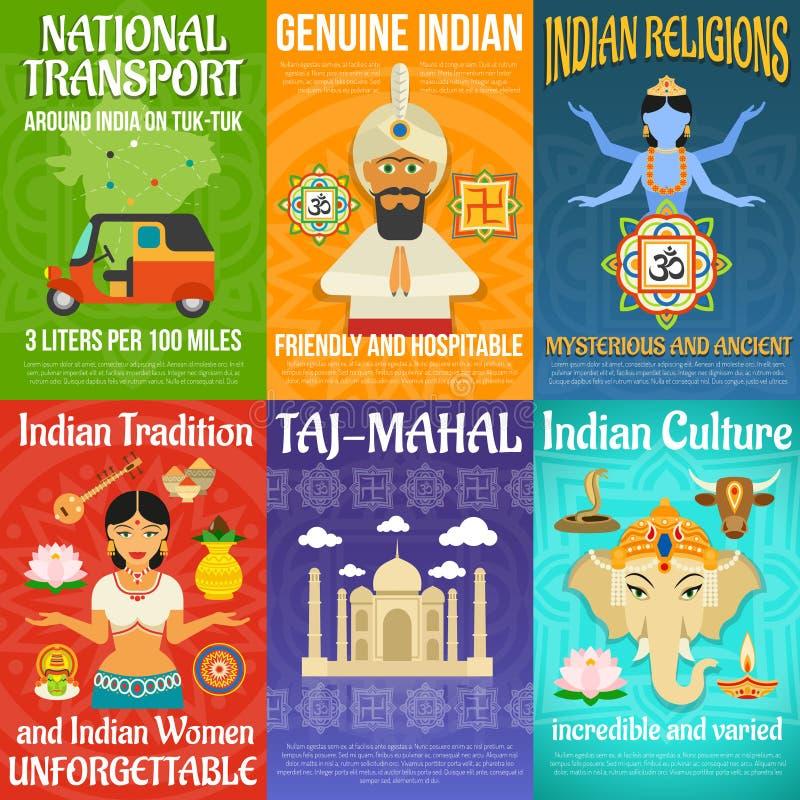 印度海报集合 皇族释放例证