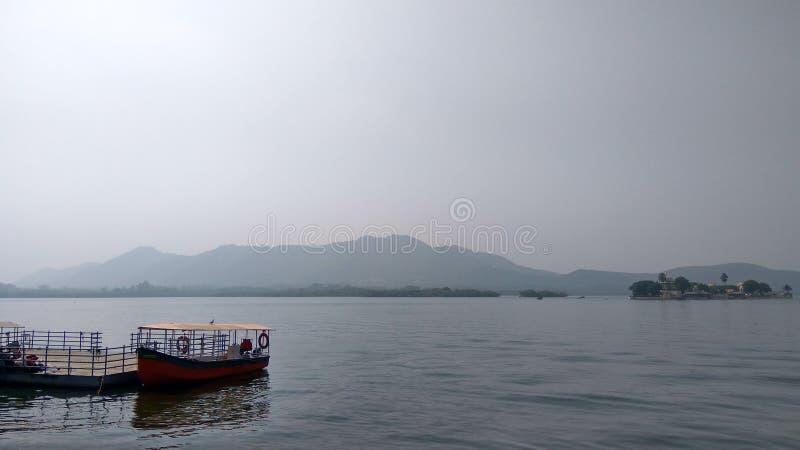 印度湖看法  免版税库存照片