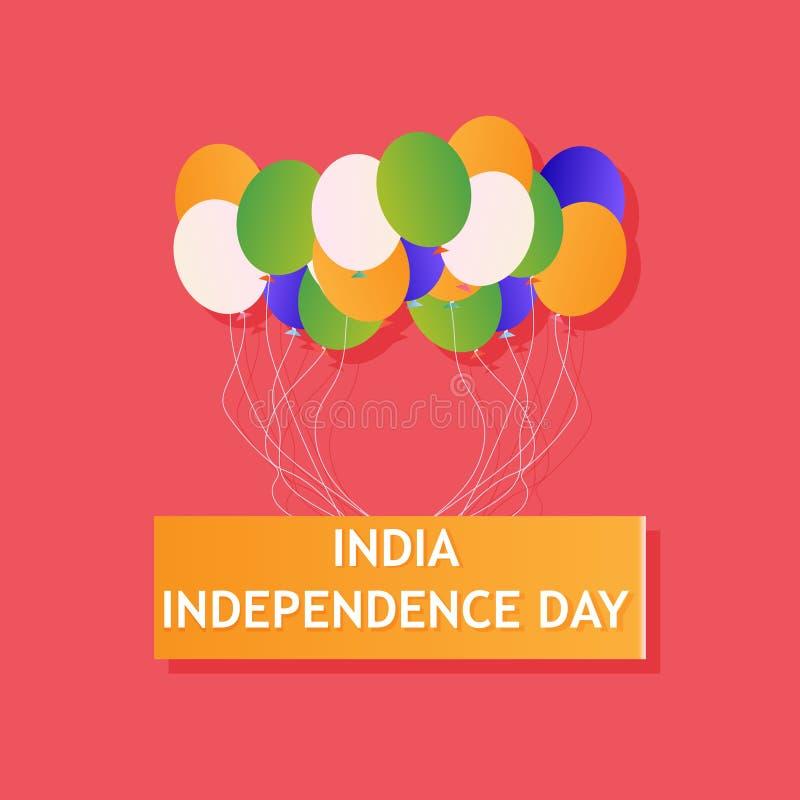 印度独立日国家背景 Republick旗子爱国心传染媒介印地安人 自由三色愉快的概念横幅自豪感 A 向量例证