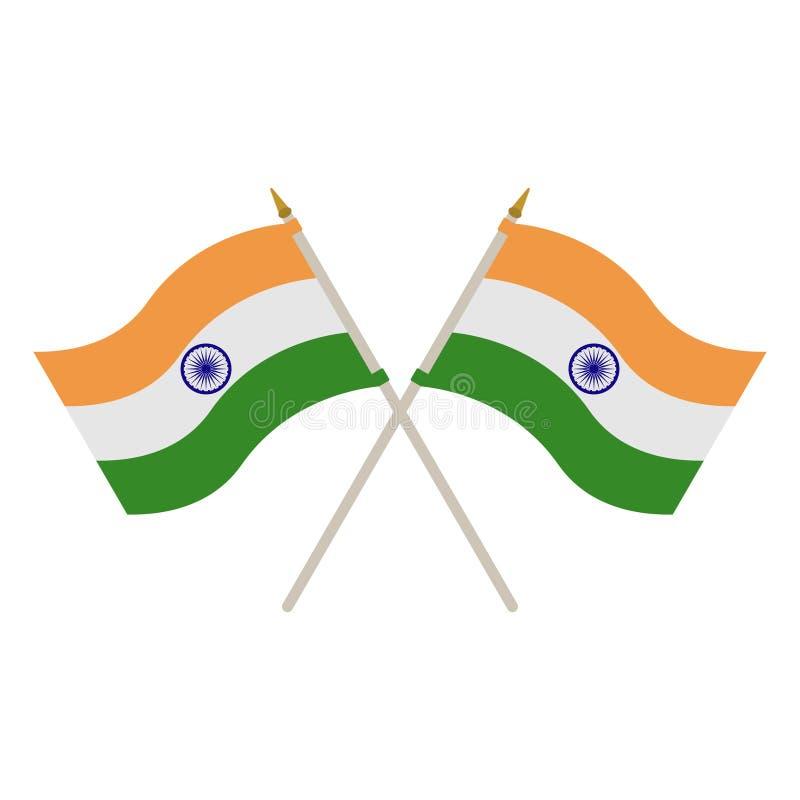 印度的两面旗子 向量例证