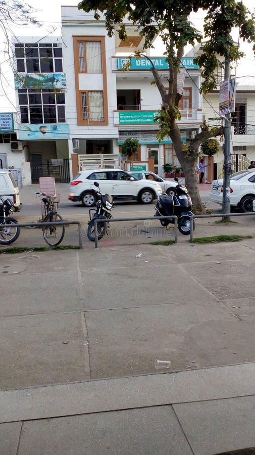 印度的五颜六色的图象区段街道 免版税图库摄影