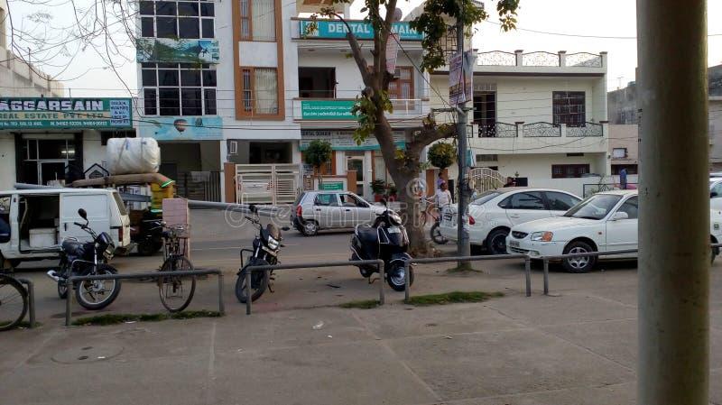 印度的区段街道 免版税库存图片