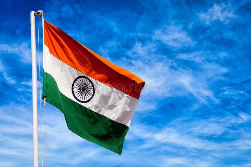 印度的印地安旗子 免版税库存照片