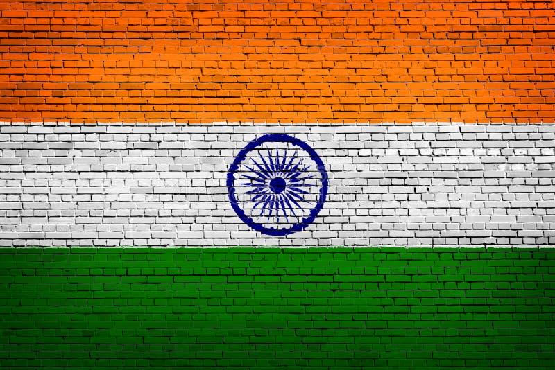 印度的国旗砖的 库存例证