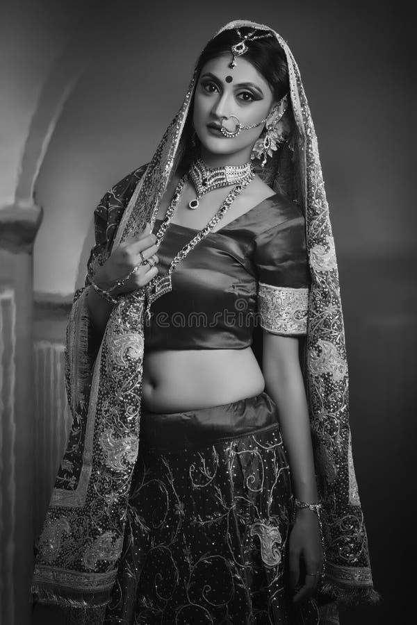 从印度的新娘 免版税库存图片