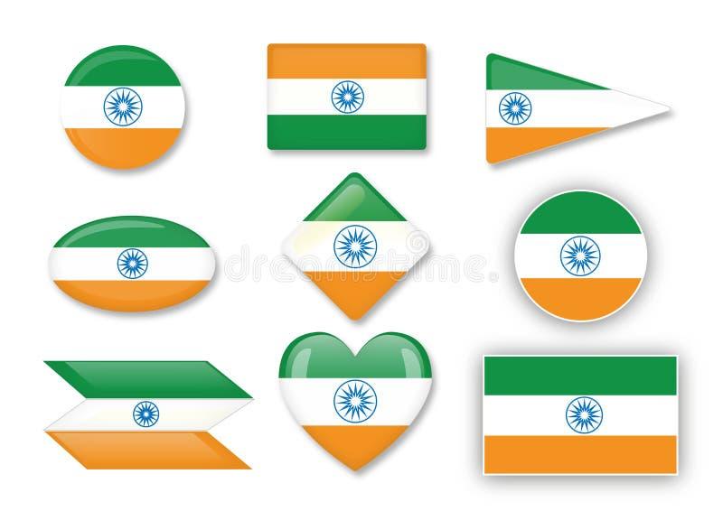 印度的旗子 皇族释放例证