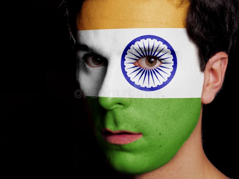 印度的旗子 库存图片