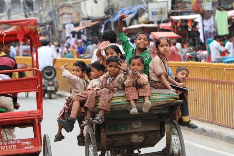 印度的正常混乱交通 免版税库存照片