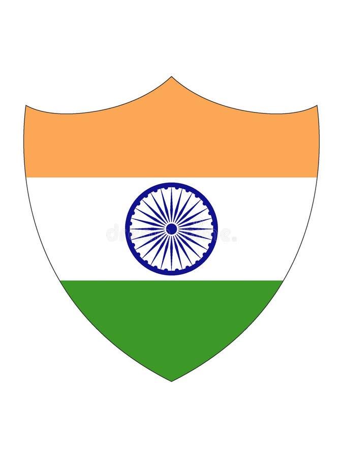 印度的盾形的旗子 皇族释放例证