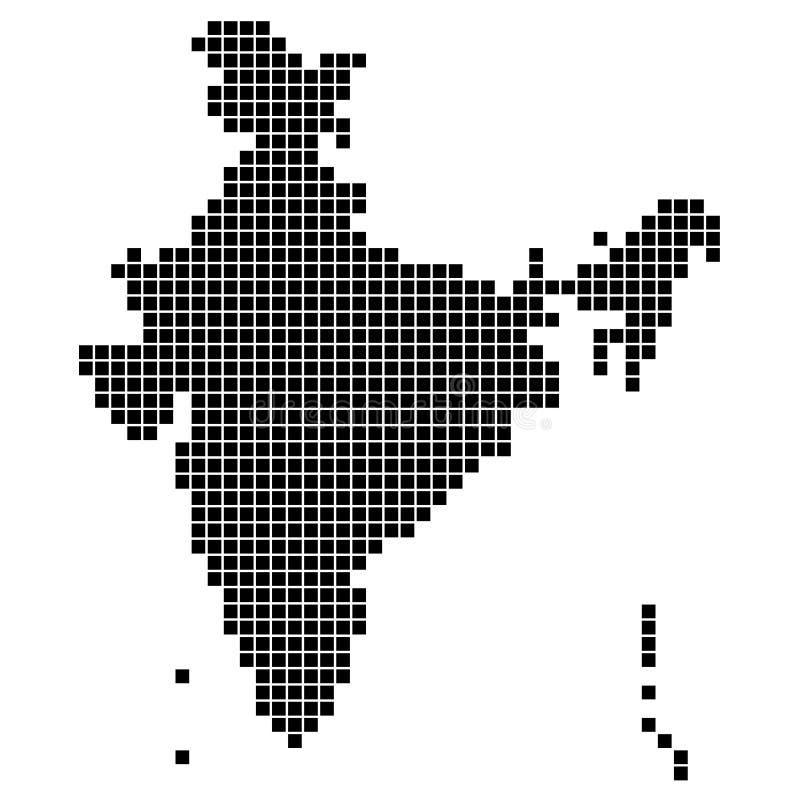 印度的象素分布图 库存例证