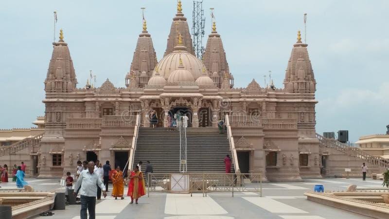 印度神寺庙曲拱设计 免版税库存照片