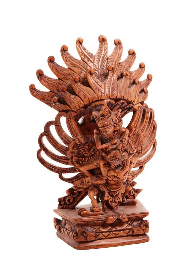 印度神的木雕象 库存照片