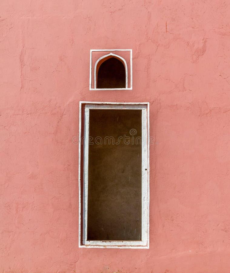 印度红窗口 免版税库存图片