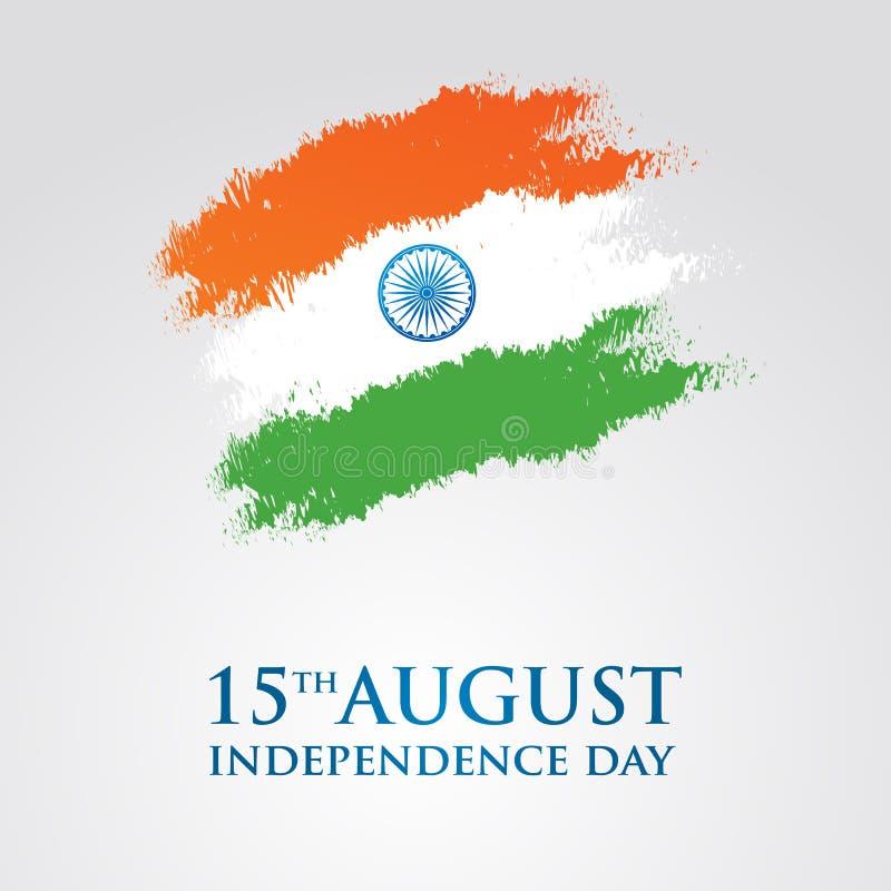 印度美国独立日贺卡传染媒介例证 第15威严的独立日 皇族释放例证
