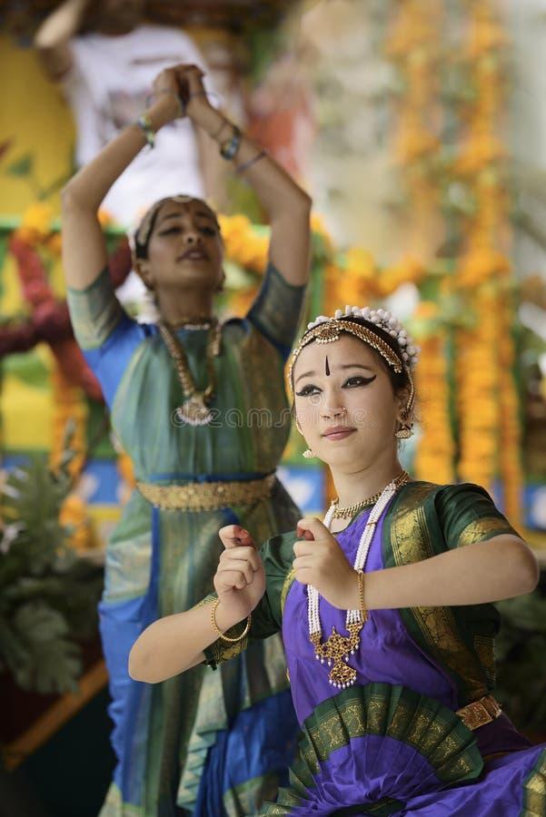 印度舞蹈演员 图库摄影