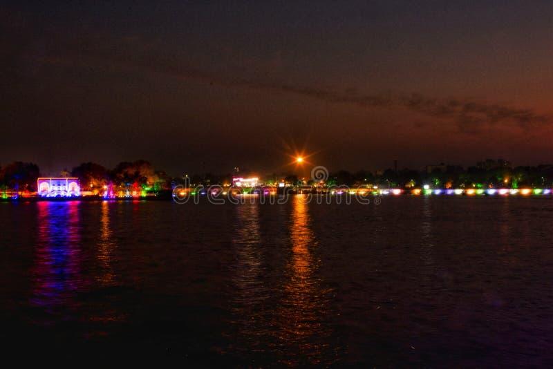 印度艾哈迈达巴德坎卡里亚湖 免版税图库摄影