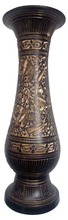 印度装饰花瓶 免版税库存图片