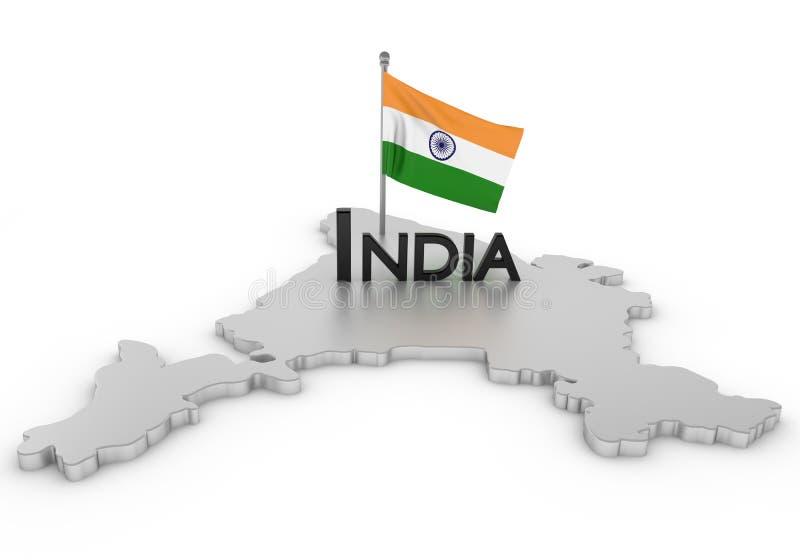 印度进贡 向量例证