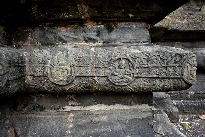 印度阿萨姆西瓦萨加的Shiva Dol石砌 库存照片