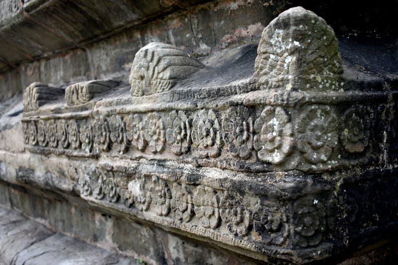 印度阿萨姆西瓦萨加的Shiva Dol石砌 免版税库存图片
