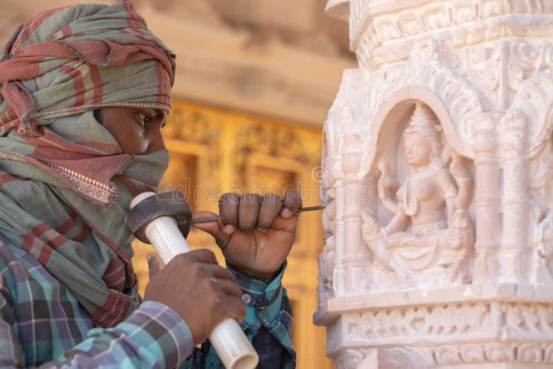 印度雕刻家 库存图片