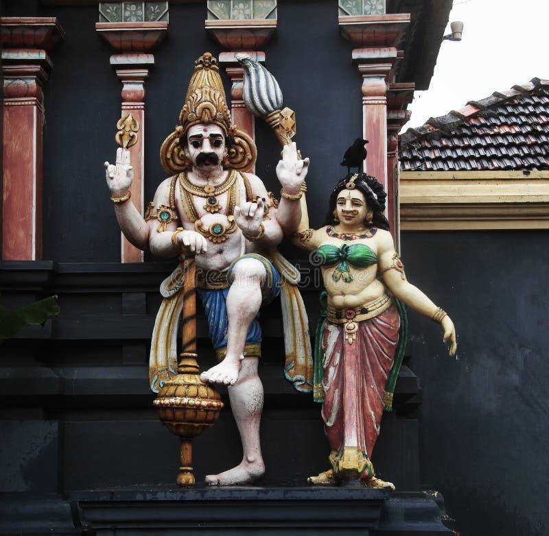 印度雕象在斯里兰卡 免版税库存图片