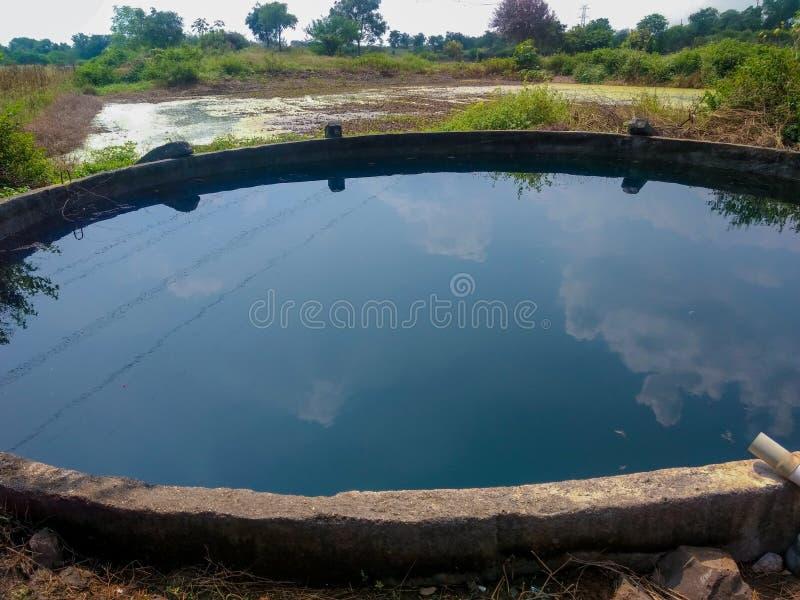 印度马哈拉施特拉邦剩余水井地下水资源开采量 库存照片