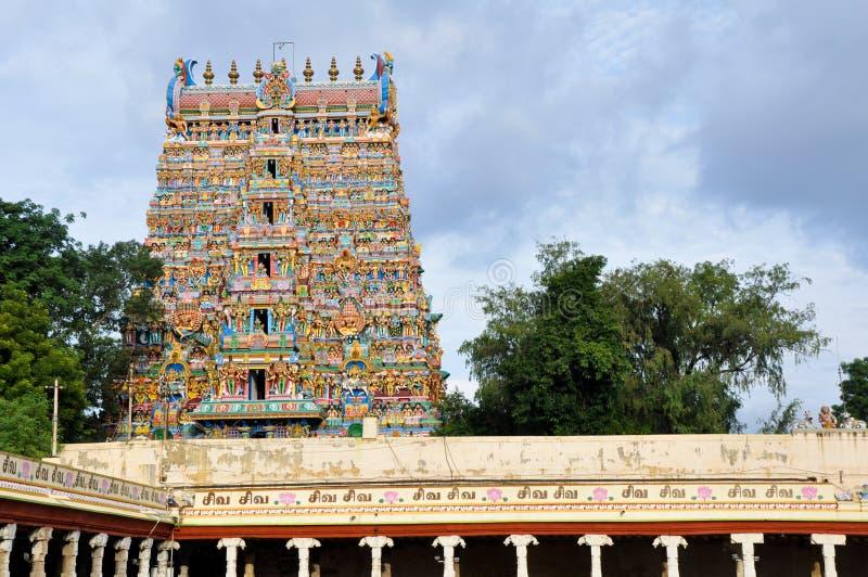 印度马杜赖meenakshi寺庙 免版税库存图片