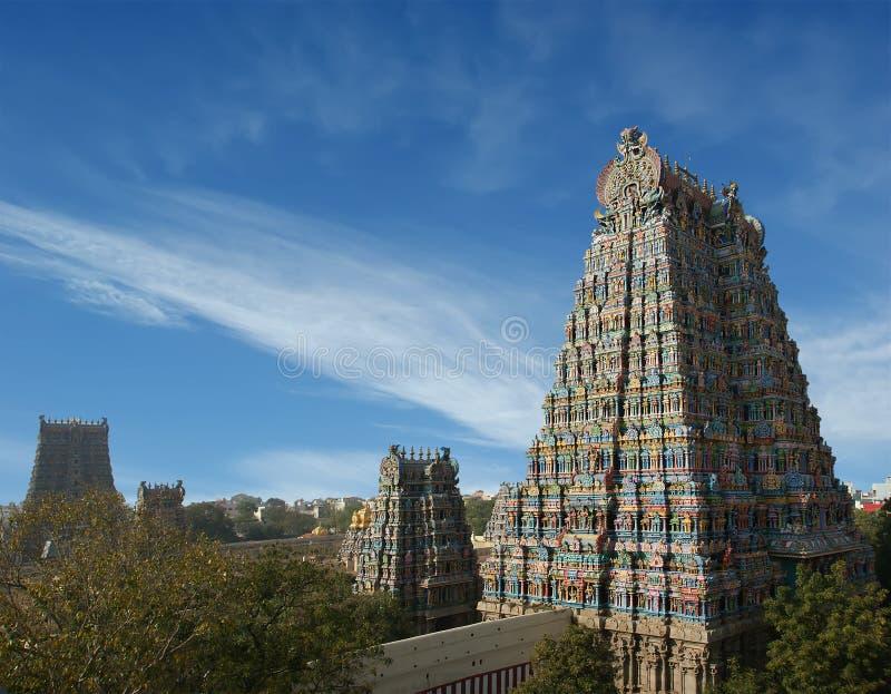 印度马杜赖meenakshi nadu泰米尔人寺庙 图库摄影