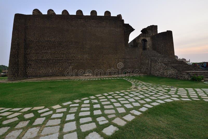 印度,古尔伯加堡垒 免版税库存照片