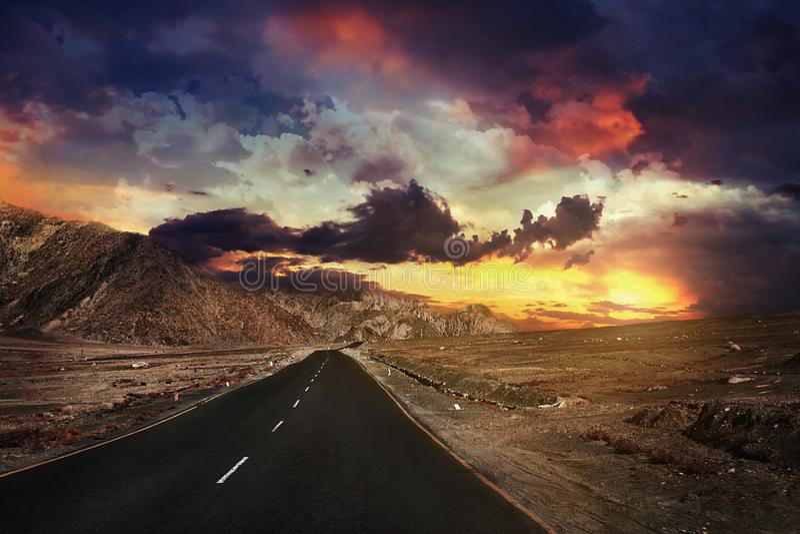 印度,喜马拉雅山,拉达克,山路,通行证 图库摄影