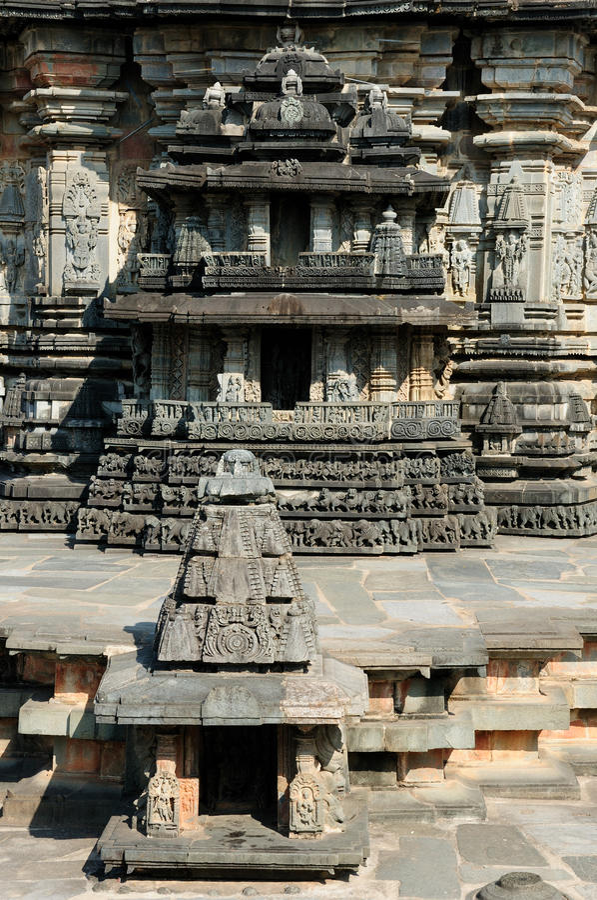 印度, Chennakesava寺庙在哈桑 免版税库存照片