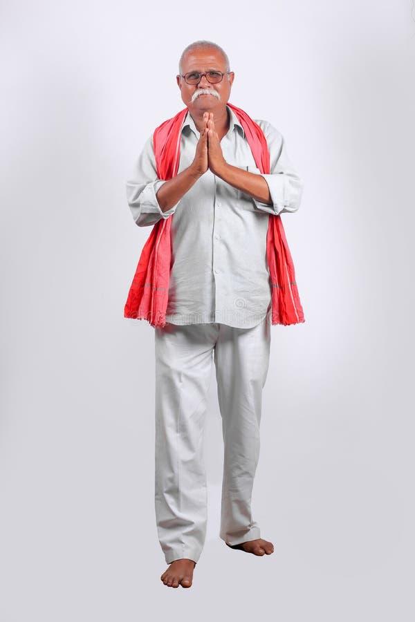 印度/亚洲老人欢迎 库存图片