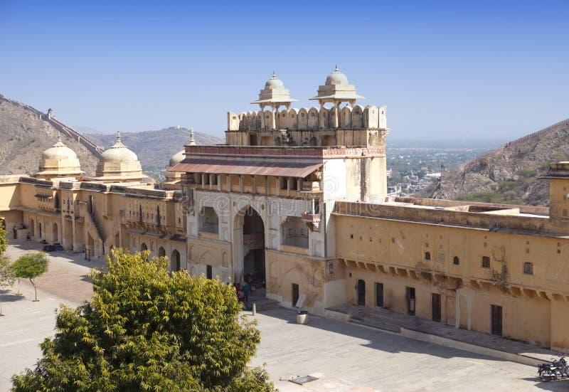 印度 斋浦尔 琥珀色的堡垒 免版税图库摄影