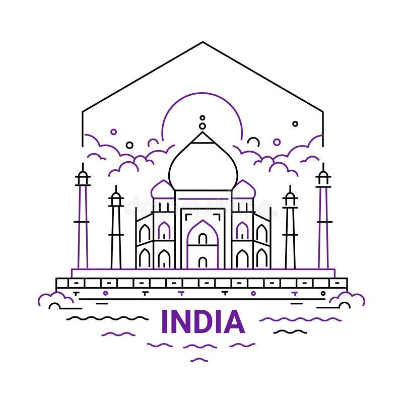 印度-现代传染媒介线旅行例证 库存例证