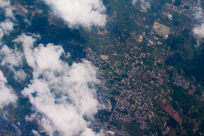 印度1的小镇 库存图片