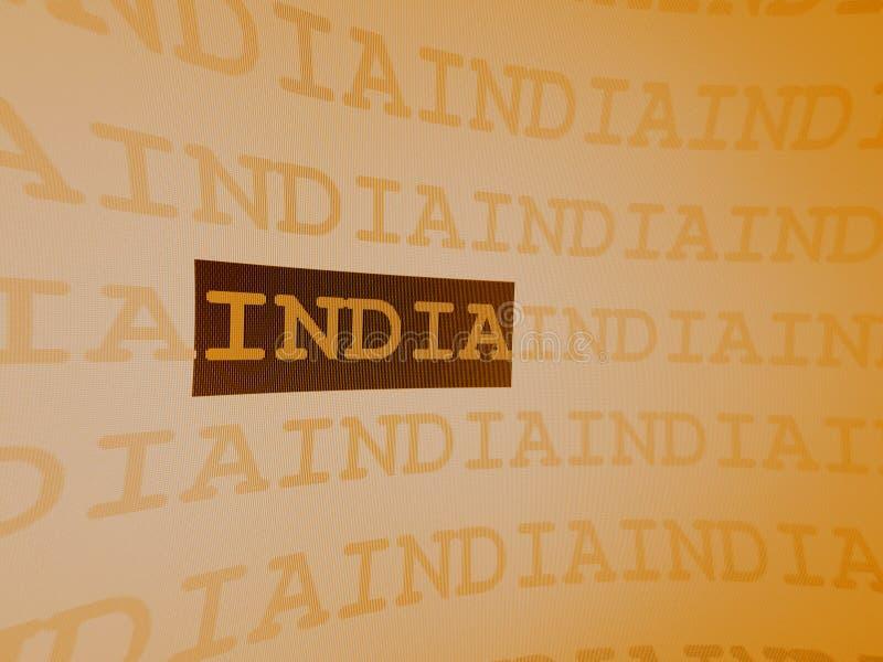 印度 向量例证