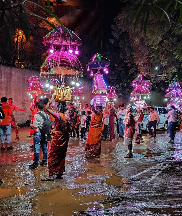 印度barat Heighlites在雨季的 库存图片
