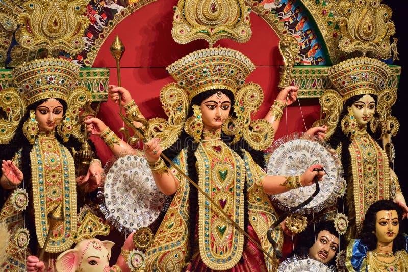 印度durga的女神 库存图片
