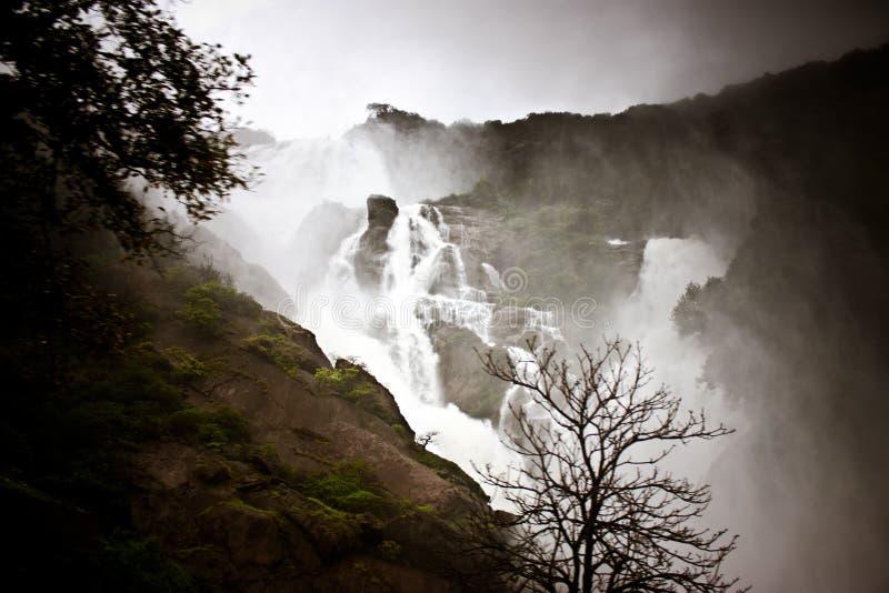 印度karnataka瀑布 库存图片