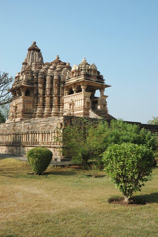 印度khajuraho安排神圣的寺庙 库存图片