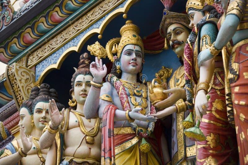 印度krishnan新加坡sri寺庙 库存照片