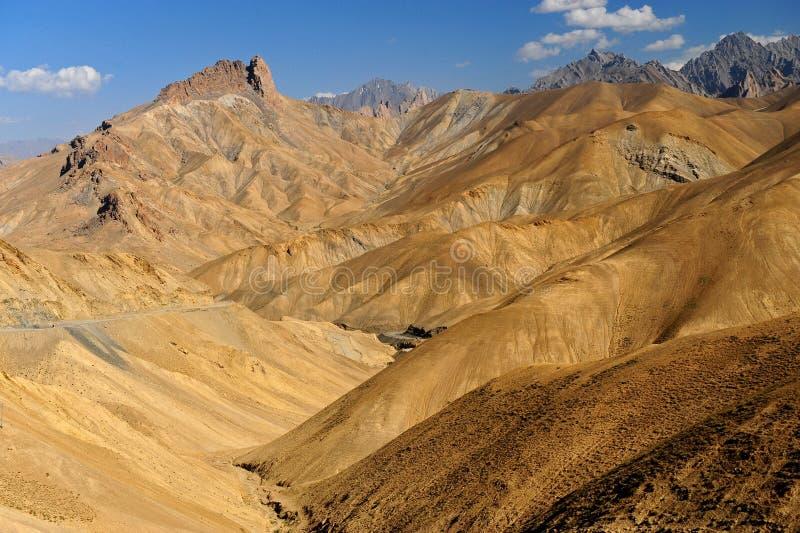 印度ladakh leh山脉 免版税库存照片