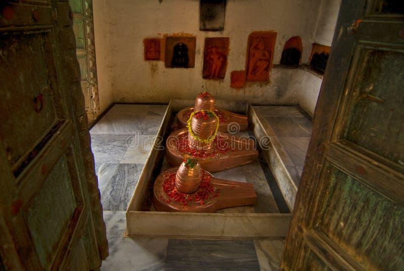 印度lingam shiva 免版税图库摄影