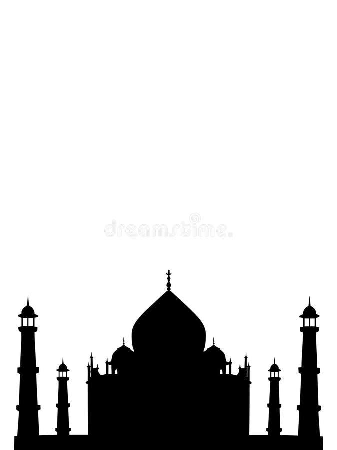 印度mahal寺庙thaj 库存例证